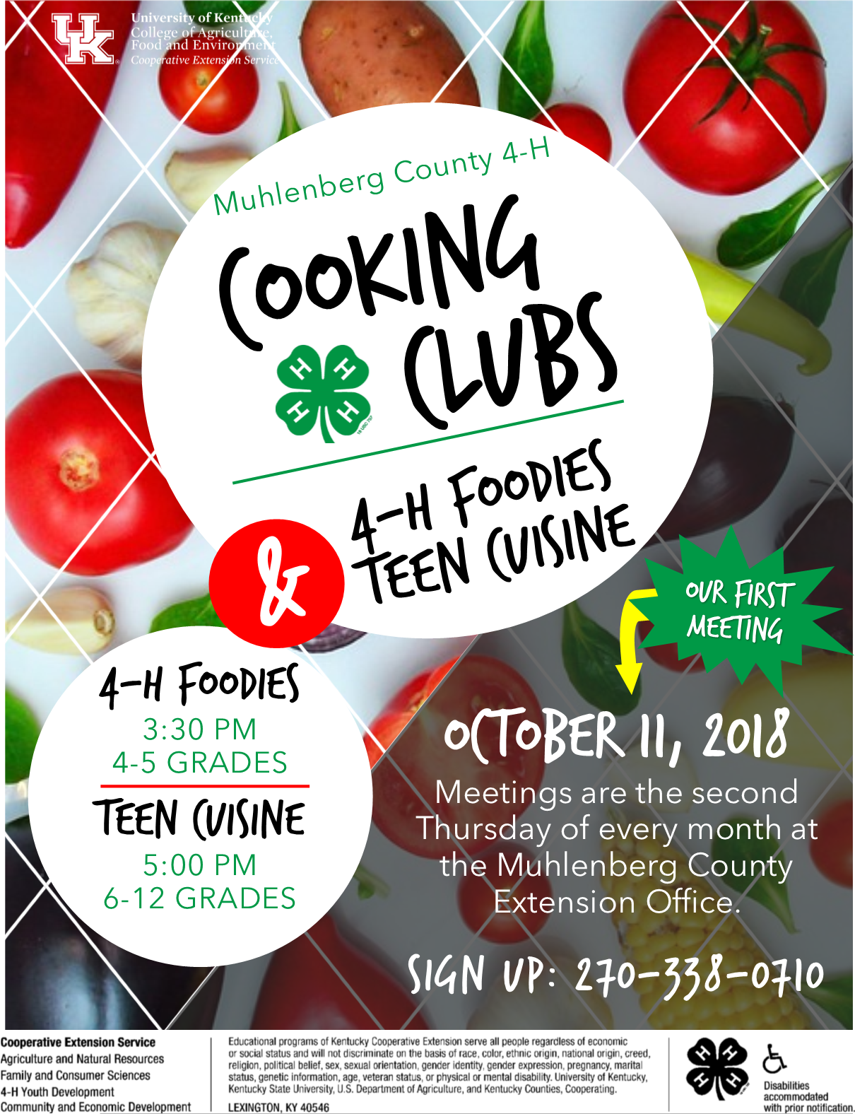 Cooking Clubs