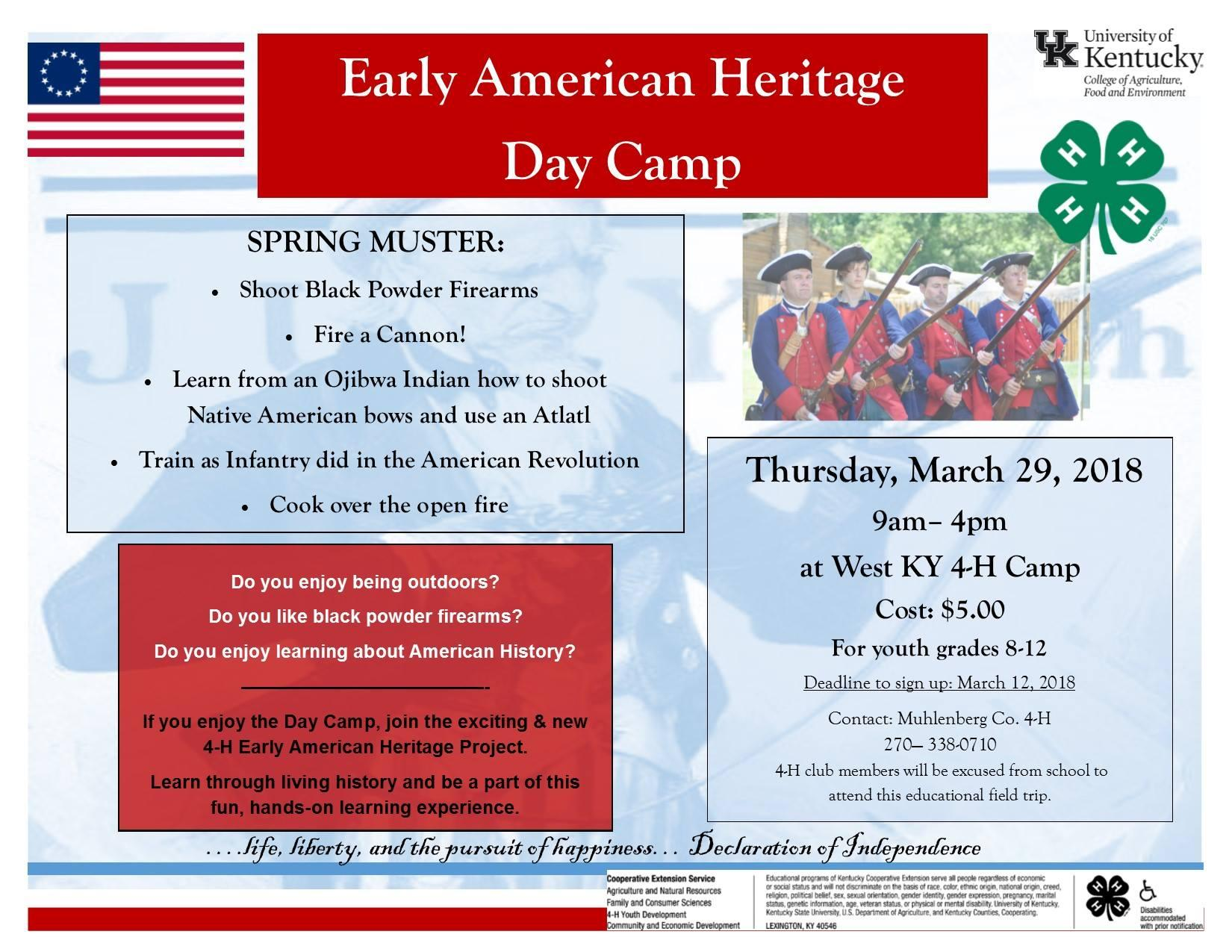 Early American Heritage Camp