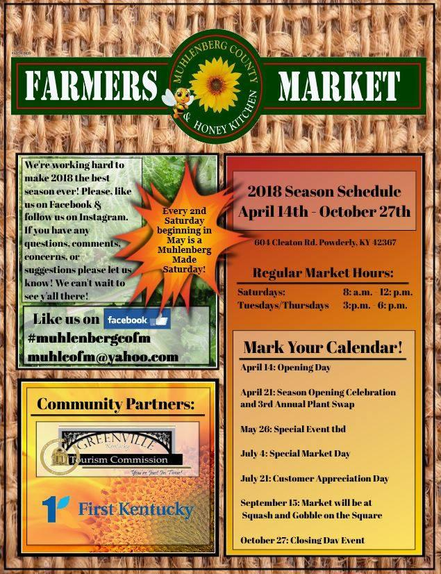 Farmers Market event schedule