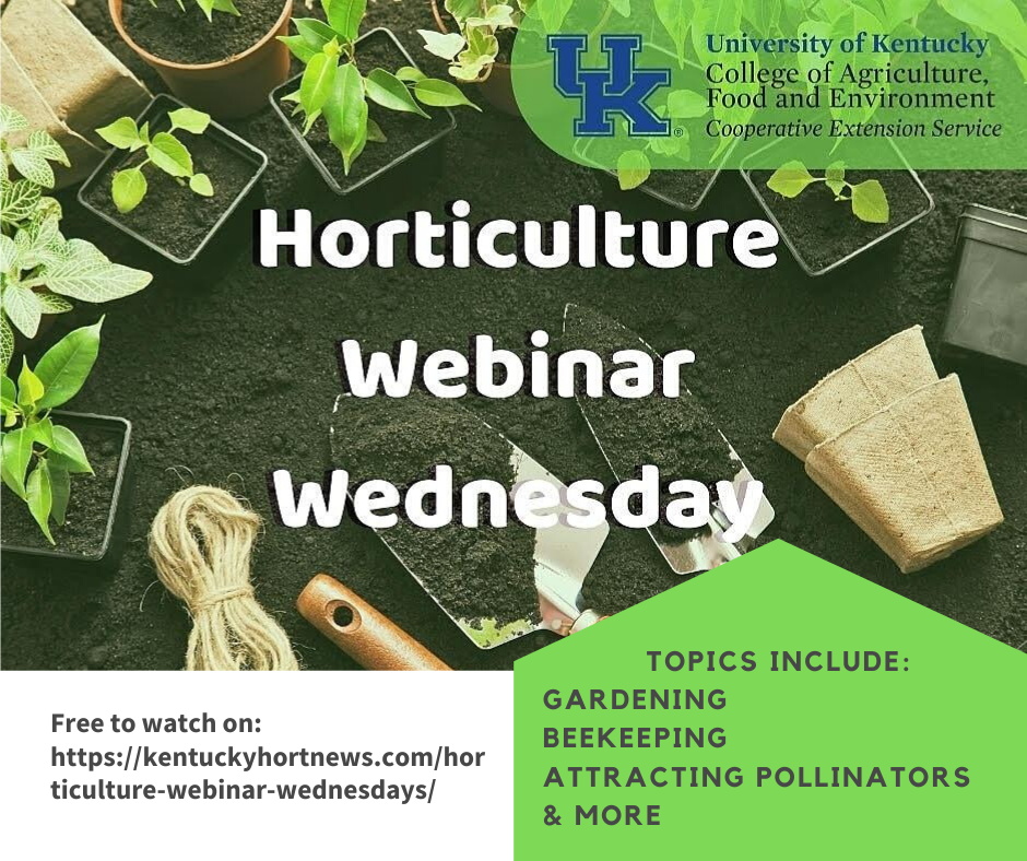 Horticulture Webinar Wednesday meetings can be accessed by clicking this photo.