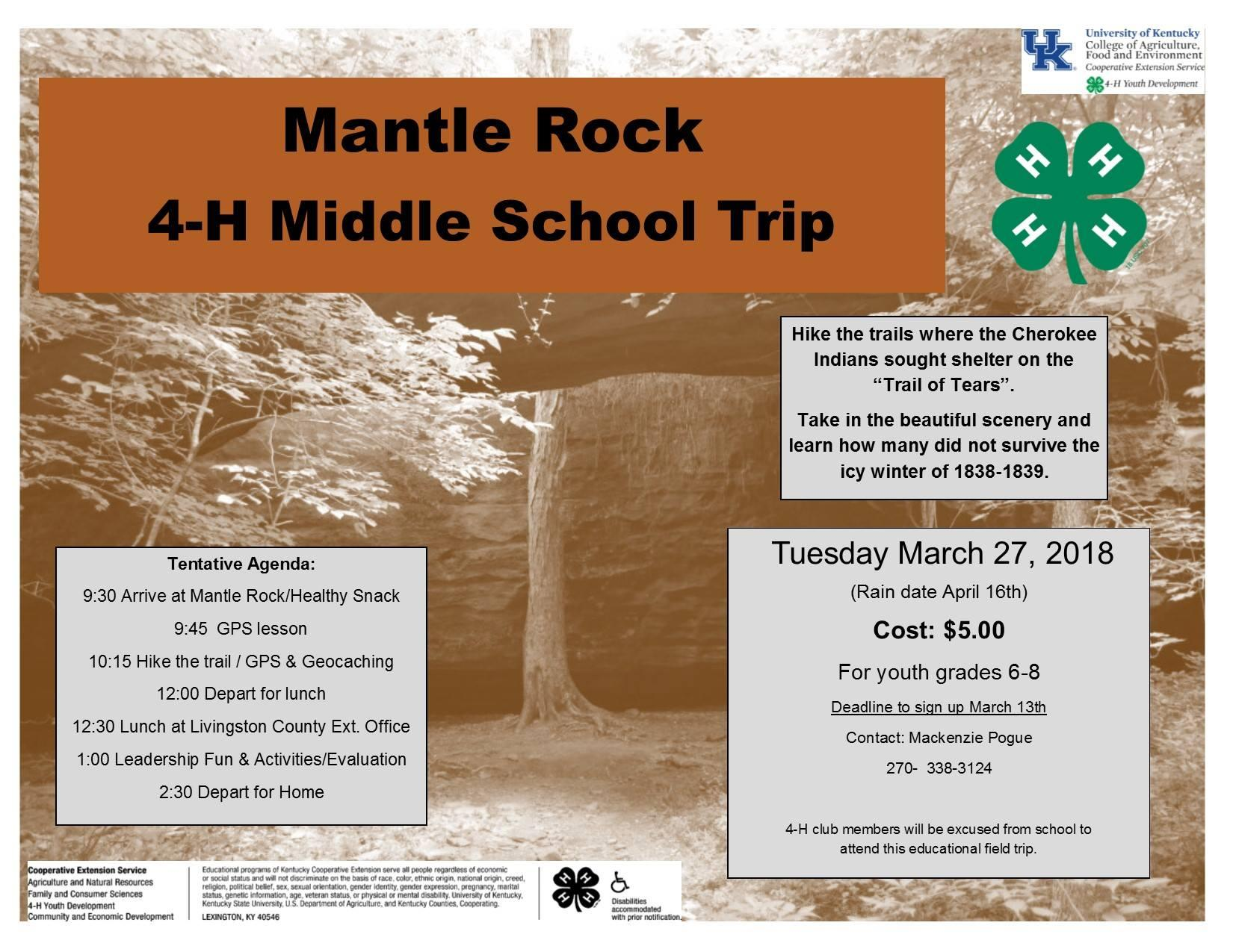 Mantle Rock Field Trip