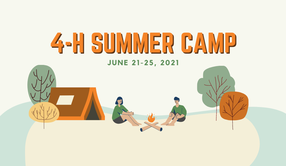 4-H Camp is happening in 2021. Click the link above for more information.